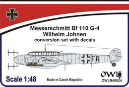 1:48 Bf 110 G-4/R3/R8 Oblt. Wilhelm Johnen conv. set&decals