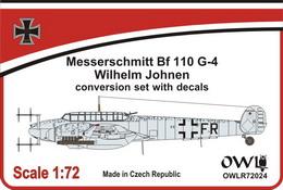 1:72 Bf 110 G-4/R3/R8 Oblt. Wilhelm Johnen conv. set&decals