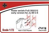 1:72 Radar aerial FuG 202/212