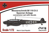 1:72 Bf 110 D-3 with Spanner Anlage & decal