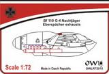 1:72 Bf 110 G-4 Eberspächer exhausts