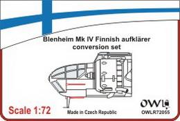 1:72 Blenheim Mk IV Finnish auklärer