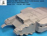 1:72 Tracks for WW I Mark I&Mark II with grouser spuds