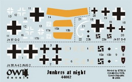 1:144 Junkers at night