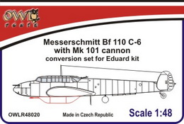 1:48 Bf 110 C-6 with Mk 101 cannon conver. set