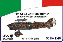 1:48 Fiat Cr 32CN Nightfighter conv.&dec.