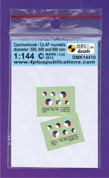 1:144 Czechoslovak/Cz AF roundels - larger image