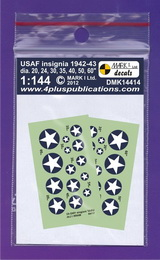 1:144 USAF insignia 1942-43 - larger image
