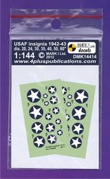 1:144 USAF insignia 1942-43