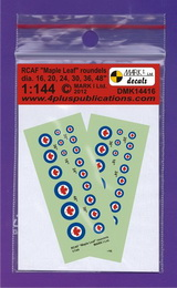 "1:144 RCAF ""Maple Leaf"" roundels - larger image"