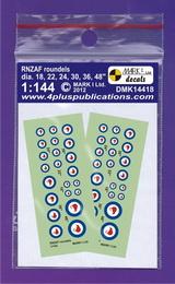 1:144 RNZAF roundels - larger image