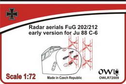 "1:72 Radar aerial FuG 202/212 ""early"" for Ju 88 C/R - larger image"