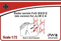 "1:72 Radar aerial FuG 202/212 ""late"" for Ju 88 C/R - larger image"