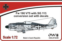 1:72 Fw 190 V75, DR+MH with SG 113 - larger image