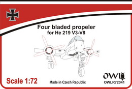 1:72 He 219 four-bladed propeler