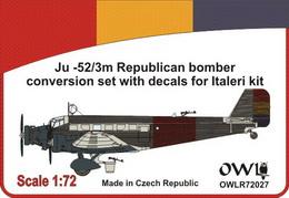 1:72 Ju 52 Republican bomber conversion set - larger image