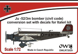 1:72 Ju 52 bomber Civil code conversion set