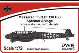 1:72 Bf 110 D-3 with Spanner Anlage & decal - larger image