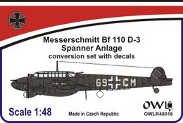 1:48 Bf 110 D-3 with Spanner Anlage & decal - larger image