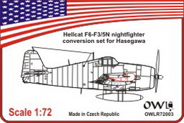1:72 F6F-3/5N Hellcat conversion set - larger image