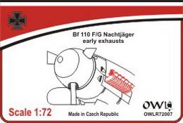 1:72 Bf 110 F/G early exhausts