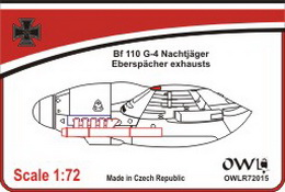 1:72 Bf 110 G-4 Eberspächer exhausts