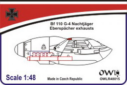 1:48 Bf 110 G-4 Eberspächer exhausts