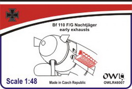 1:48 Bf 110 F/G early exhausts - larger image
