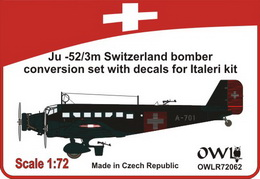 1:72 Ju 52/3m Switzerland bomber