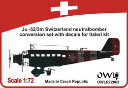 1:72 Ju 52/3m Switzerland bomber (neutral camo)