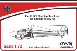 1:72 Fw 58 B/C nachtschlacht basic set