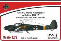 1:72 Fw 58 C Nachtjäger gun nose conv. set&decals - larger image