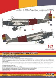 1:72 Ju 52 Spanish Republican bomber