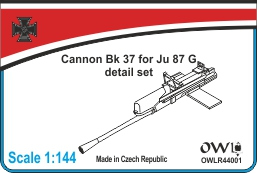 1:144 Uncovered cannon Bk 3,7 for Ju 87 G-1/G-2