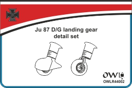 1:144 Uncovered landing gear for Ju 87 D/G